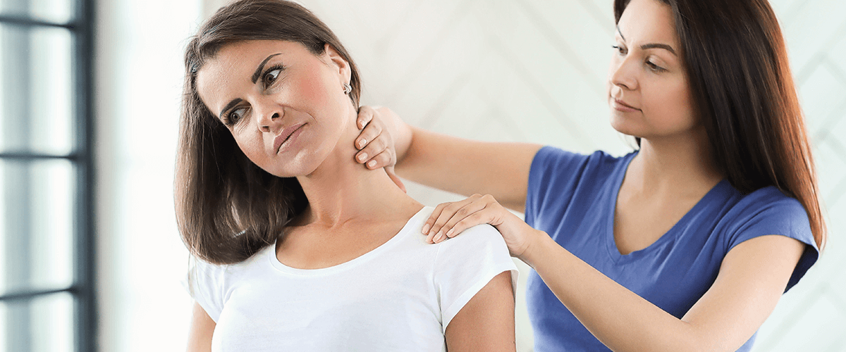 woman getting neck pain treatment at pike therapy